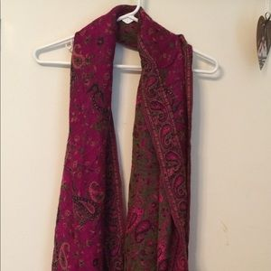 Accessories - Pink printed scarf